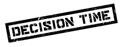 Decision Time rubber stamp Stock Image