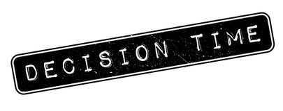 Decision Time rubber stamp Royalty Free Stock Photography