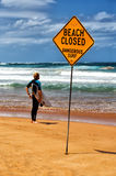 Decision time for a Sydney surfer Stock Photography