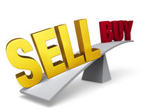 Decision To Sell Outweighs Advice To Buy Stock Photography