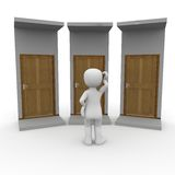 Decision. Which wants to take away the 3d character Royalty Free Stock Images