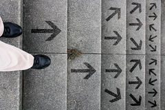 Decision - which way to go? Royalty Free Stock Image