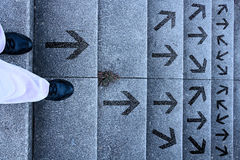 Decision - which way to go? Stock Image
