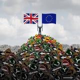 Decisione BRITANNICA dell'Unione Europea illustrazione vettoriale