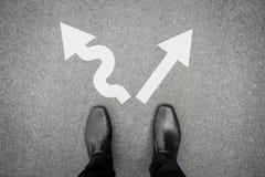 Decisione da fare - duro o facile Immagini Stock