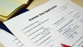Decisione da rifiutare di assegnare visto iraniano video d archivio