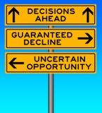 Decisione difficile illustrazione di stock