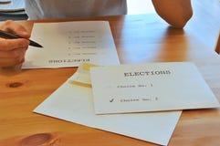 Decisione dura durante le elezioni Fotografia Stock