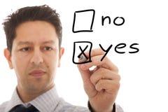 Decisione positiva Immagini Stock Libere da Diritti