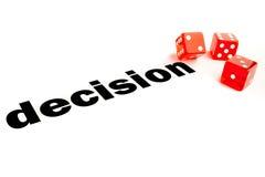 Decisione rischiosa Immagini Stock