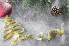 Decisiones del ` s del Año Nuevo sobre una forma de vida sana Días de fiesta sanos de la consumición y de la dieta ¡Puesto en bue Imagen de archivo libre de regalías