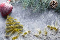 Decisiones del ` s del Año Nuevo sobre una forma de vida sana Días de fiesta sanos de la consumición y de la dieta ¡Puesto en bue Foto de archivo libre de regalías