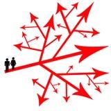 Decisioni delle coppie Immagini Stock