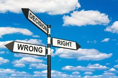Free Decisions Royalty Free Stock Photography - 61556617
