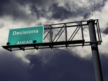 Decisions Ahead Royalty Free Stock Photos