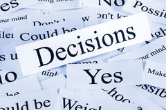 Decisions Concept Royalty Free Stock Images