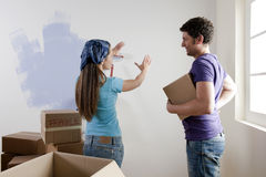 Decisions on Moving Day Royalty Free Stock Photos