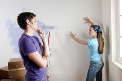Decisions on Moving Day Stock Image