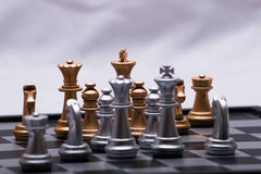 Decisive chess game Royalty Free Stock Image