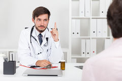 Decisive doctor Royalty Free Stock Image