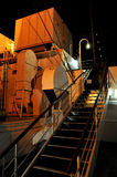 At the deck. Incredible night scenery at the deck of old cruise ship royalty free stock photography