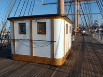 Deck of the Balclutha in San Francisco Stock Photo