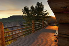Deck at Black Canyon. View from one of the observation decks at Black Canyon of the Gunnison National Park Royalty Free Stock Image