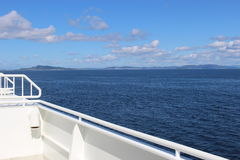 On the deck of a car ferry in Norway, Europe. Stock Images