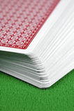 Deck of Cards. Slightly fanned deck of cards Stock Photography