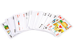 Deck of cards. Isolated on white background Stock Images