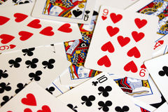 Deck of cards. Deck of playingcards royalty free stock photos