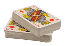 Deck of cards. Two deck of cards (showing king), isolated on white Royalty Free Stock Photos
