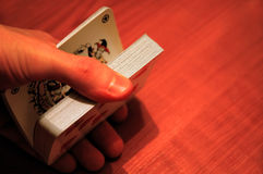 Deck of cards. Dealing cards Stock Images
