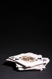 Deck of cards. Over black Royalty Free Stock Images