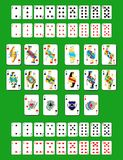Deck of cards. Set of beautiful designer playing cards of all suits Royalty Free Stock Image