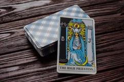 Deck of cards Tarot Rider-Waite. Major Arcana. II The High Priestess Royalty Free Stock Photo