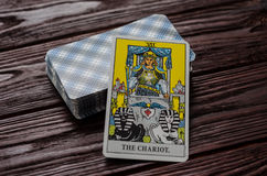Deck of cards Tarot Rider-Waite. Major Arcana. VII The Chariot Royalty Free Stock Photos