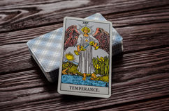 Deck of cards Tarot Rider-Waite. Stock Photo