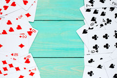 Deck of cards used as a frame Stock Photography