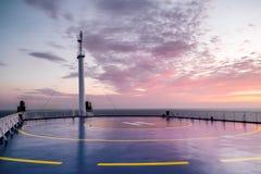 Deck of the Cargo passenger ferry Stock Photos