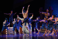 """The deck of the Carnival-Dance drama """"The Dream of Maritime Silk Road"""" Stock Photos"""