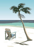 Deck Chair. A deck chair on a lovely sunny beach Royalty Free Stock Images
