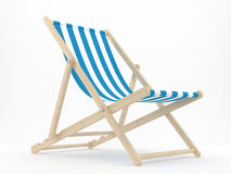 Deck Chair. 3d render of a deck chair on a white background Stock Images