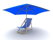 Deck chair Stock Photography