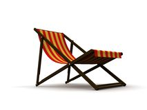 Deck chair Royalty Free Stock Image