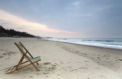 Deck Chair on Bournemouth Beach Royalty Free Stock Photography