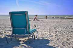Deck chair in Florida Stock Image