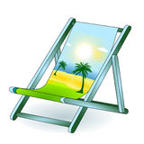 Deck chair holiday dream Royalty Free Stock Image