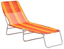 Deck chair. Isolated Royalty Free Stock Images
