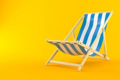 Deck chair. Isolated on orange background Stock Image